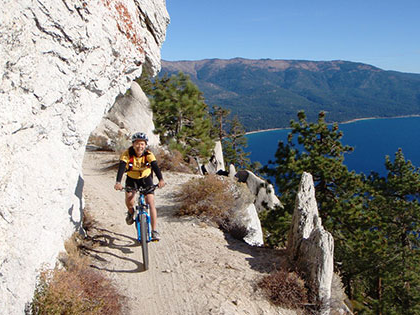 The Flume Trail is a few minutes away from SNU Tahoe, a great hiking and mountain biking trail