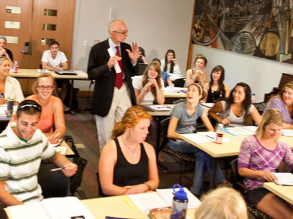 Many Sierra Nevada University students consider professor Dan OBryan's senior Ethics class a highlight of their college experience