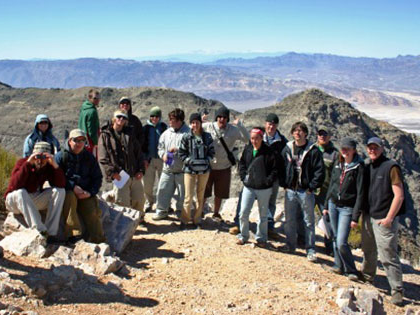 Sierra Nevada University students explore different ecosystems by traveling to Death Valley for class